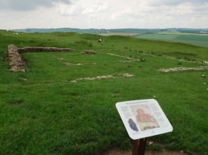 Ruins of the Roman Temple at Maiden Castle