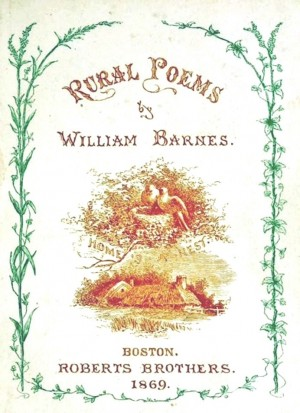 Frontispiece illustrated by Hammatt Billings, Rural Poems by William Barnes, published by Boston, Robert Brothers 1869