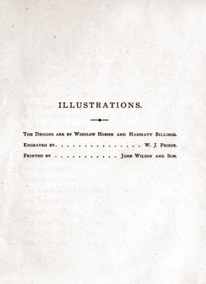 Index of Illustrators, Rural Poems by William Barnes, published by Boston, Robert Brothers 1869