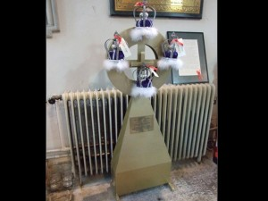 Sir George Somers Cross presented to the Church of St Candida and Holy Cross, Whitchurch Canonicorum, Dorset by the citizens of Bermuda - Image Credit: Mark North