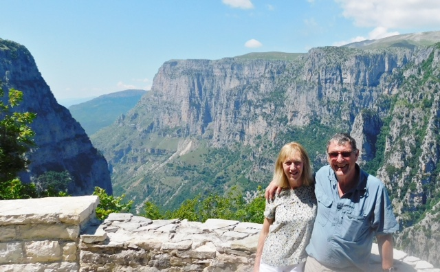 Mark and Sue, Vikos Gorge Lookout, Oxias
